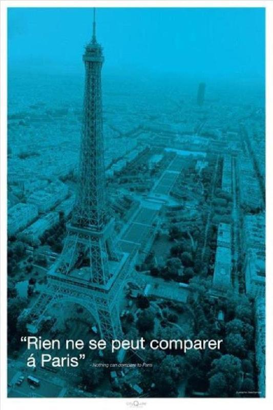 affiche paris la tour eiffel en bleu acheter affiche paris la tour eiffel en bleu 1828. Black Bedroom Furniture Sets. Home Design Ideas