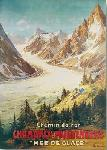 Affiche vintage de BOURGEOIS Chamonix mer de glace