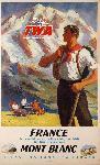 Affiche publicitaire France Mont-Blanc