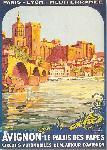 Affiche ancienne de Roger BORDERS Avignon