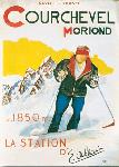 Affiche vintage Courchevel