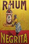 Affiche vintage de DORFINANT Rhum Negrita