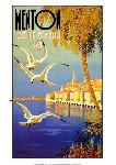 Affiche vintage de BEGLIA Menton