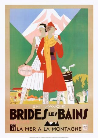 affiches posters affiche publicitaire de roger broders brides les bains. Black Bedroom Furniture Sets. Home Design Ideas