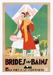 Affiche publicitaire de Roger BRODERS Brides les Bains