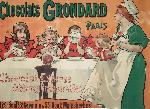 Affiche ancienne chocolats Grondard