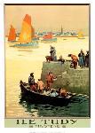 Affiche ancienne de Charles HALLO Ile Tudy