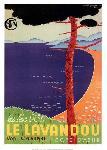 Affiche vintage de GUYSERRE Le Lavandou
