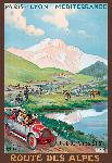 Affiche publicitaire de René PEAN Route des Alpes