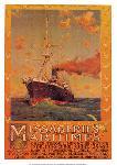 Affiche publicitaire Messageries maritimes