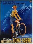 Affiche vintage de Michel LIEBEAUX Bicyclette Royal Fabric