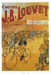 Affiche vintage Cycles J.B Louvet