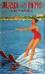 Affiche publicitaire de Raymond VIC Juan-Les-Pins