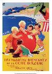 Affiche ancienne Maisons d'enfants Côte d'Azur