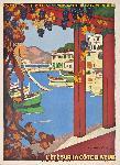 Affiche vintage La Côte d'Azur
