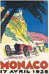 Affiche vintage de Géo HAM Monaco 1934