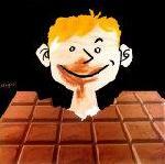 Affiche vintage de Raymond SAVIGNAC Le Chocolat