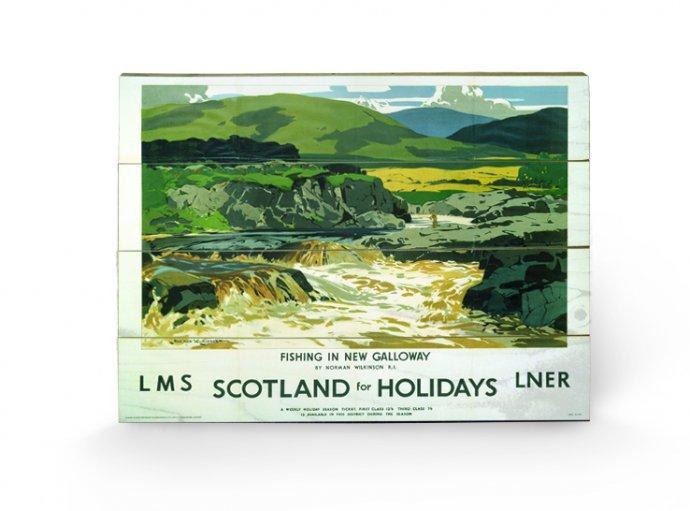 affiches posters impression sur bois scotland for holidays. Black Bedroom Furniture Sets. Home Design Ideas