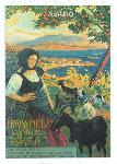 Affiche ancienne de DELLEPIANE La Corse en Yacht