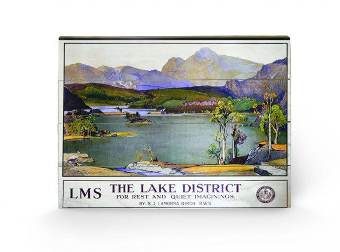 affiches posters impression sur bois the lake district 1. Black Bedroom Furniture Sets. Home Design Ideas