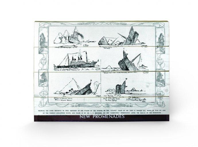 affiches posters impression sur bois titanic 11. Black Bedroom Furniture Sets. Home Design Ideas