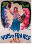 Affiche ancienne de Antoine GALLAND Vins de France