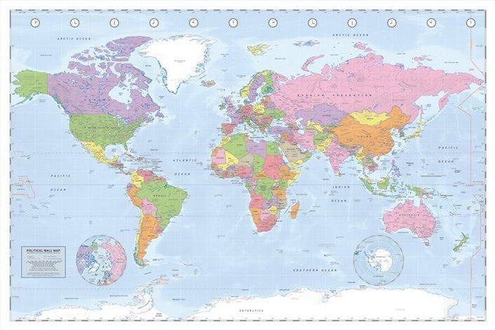 Affiche carte du monde   acheter Affiche carte du monde (1993