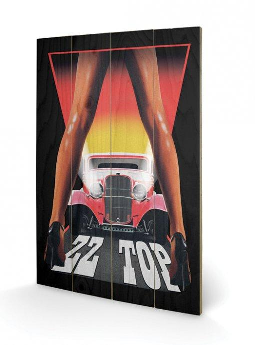 affiches posters impression sur bois zz top legs. Black Bedroom Furniture Sets. Home Design Ideas