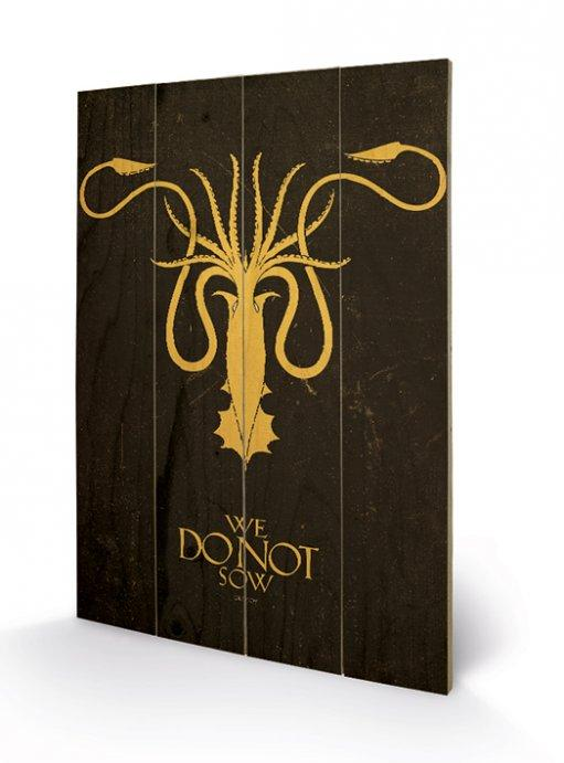 affiches posters impression sur bois game of thrones greyjoy. Black Bedroom Furniture Sets. Home Design Ideas