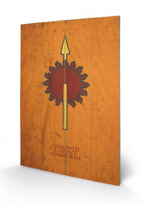 affiches posters impression sur bois game of thrones martell. Black Bedroom Furniture Sets. Home Design Ideas