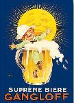 Affiche vintage de AUZOLLE Bière Gangloff