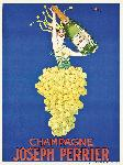 Affiche ancienne de STALL Champagne J.PERRIER