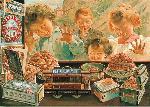 Affiche ancienne de BOCCHINO Biscuits L.U