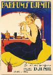 Affiche vintage de GEO CAP Parfums djemil