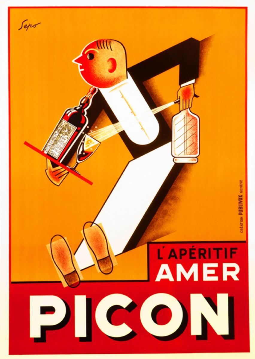 Fabuleux Affiche ancienne Picon - acheter Affiche ancienne Picon (2050  QA07