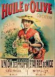 Affiche publicitaire Huile d'olive Nice
