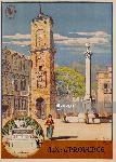 Affiche ancienne de Jean JULIEN Aix en Provence
