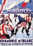 Affiche vintage de Roger BRODERS Sports d'hiver