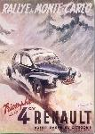 Affiche ancienne de Geo HAM Renault 4