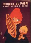 Affiche publicitaire de Openo LEFOR Mangez du pain