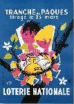 Affiche vintage de Openo LEFOR Loterie Nationale