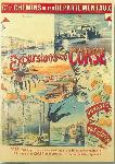 Affiche publicitaire Excursions en Corse