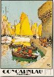 Affiche ancienne de Chales HALLO Concarneau