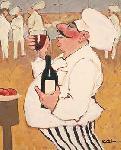 Affiche d'art de Carole KATCHEN Shiraz tasting