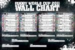 Poster poule et tournoi coupe du monde de rugby