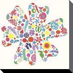 Toiles imprimées D - big flower - 40 x 40cm - alys paterson