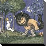 Toiles imprimées D - king of all wild things - 40 x 40cm - maurice sendak