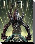 Toiles imprimées Alien green 40x50