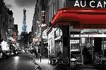 Affiche Rue Parisienne la nuit