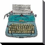 Toiles imprimées Barry goodman (typewriter) - 85x85